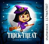 halloween trick or treat... | Shutterstock .eps vector #1174647007