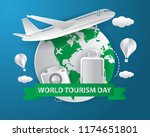 world tourism day tourism day... | Shutterstock .eps vector #1174651801