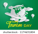 world tourism day tourism day... | Shutterstock .eps vector #1174651804