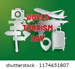 world tourism day tourism day... | Shutterstock .eps vector #1174651807