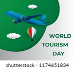 paper world tourism day tourism ... | Shutterstock .eps vector #1174651834