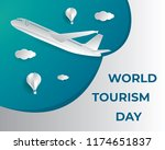 world tourism day tourism day... | Shutterstock .eps vector #1174651837