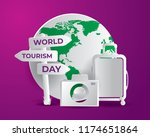 world tourism day tourism day... | Shutterstock .eps vector #1174651864