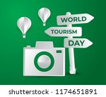 world tourism day tourism day... | Shutterstock .eps vector #1174651891
