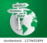 world tourism day tourism day... | Shutterstock .eps vector #1174651894