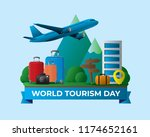 world tourism day tourism day... | Shutterstock .eps vector #1174652161