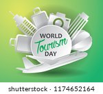world tourism day tourism day... | Shutterstock .eps vector #1174652164