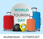 world tourism day tourism day... | Shutterstock .eps vector #1174652167