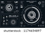 futuristic black and white hud  ... | Shutterstock .eps vector #1174654897