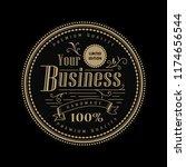 circle vintage badge logo... | Shutterstock .eps vector #1174656544