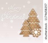 merry christmas text... | Shutterstock .eps vector #1174658257