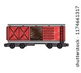 freight train wagon logistic... | Shutterstock .eps vector #1174661317