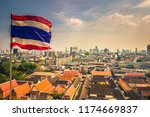 flag of thailand at the golden... | Shutterstock . vector #1174669837