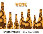 wine abstract illustration... | Shutterstock .eps vector #1174678801