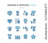 awards and trophies icons.... | Shutterstock .eps vector #1174681477