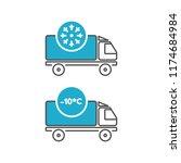 ice cream delivery fridge truck ... | Shutterstock .eps vector #1174684984