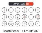 set of different sniper scope... | Shutterstock .eps vector #1174684987
