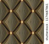 shiny gold 3d modern vector... | Shutterstock .eps vector #1174687861