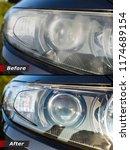 polishing the optics of car...   Shutterstock . vector #1174689154
