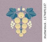 ripe white currant illustration.... | Shutterstock .eps vector #1174691137