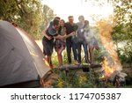 best friends are in harmony... | Shutterstock . vector #1174705387