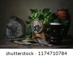 Still Life With Dried Fish And...