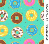 colorful cute seamless pattern...   Shutterstock .eps vector #1174710901