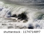 a view of strong waves in... | Shutterstock . vector #1174714897