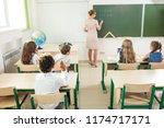 education  high school ...   Shutterstock . vector #1174717171