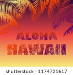 tropical neon background with... | Shutterstock .eps vector #1174721617