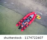 inflatable powerboat off the... | Shutterstock . vector #1174722607
