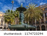 classical fountain of the three ... | Shutterstock . vector #1174723294