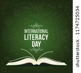 international literacy day post.... | Shutterstock .eps vector #1174725034