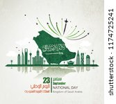 saudi arabia national day in... | Shutterstock .eps vector #1174725241