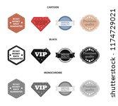money back guarantee  vip ... | Shutterstock .eps vector #1174729021
