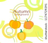 autumn pumpkin autumn vector... | Shutterstock .eps vector #1174729291