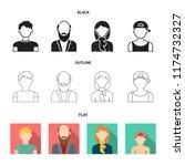 boy in a cap  redheaded...   Shutterstock .eps vector #1174732327