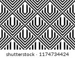 seamless pattern with striped... | Shutterstock .eps vector #1174734424