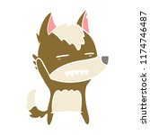 flat color style cartoon wolf...   Shutterstock .eps vector #1174746487