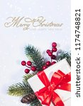 christmas holiday background | Shutterstock . vector #1174748821