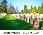 Flags On Military Graves  Usa