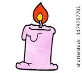 cartoon doodle lit candle | Shutterstock .eps vector #1174757701