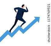 businessman running on steps... | Shutterstock .eps vector #1174769521