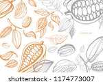 vector set of hand drawing of... | Shutterstock .eps vector #1174773007