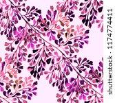 watercolor seamless pattern... | Shutterstock . vector #1174774411