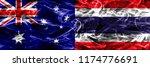 australia vs thailand colorful... | Shutterstock . vector #1174776691