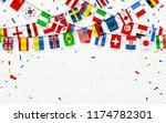 colorful flags garland of... | Shutterstock .eps vector #1174782301