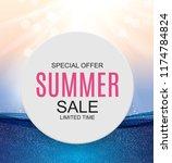 summer sale concept background. ... | Shutterstock .eps vector #1174784824