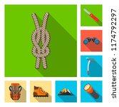 vector illustration of alpinism ... | Shutterstock .eps vector #1174792297