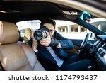 private detective investigating ... | Shutterstock . vector #1174793437